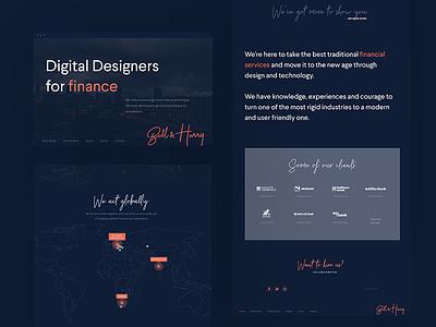 Concept, structure & copy of B&H website clients client finance designers ia copywriting content agency website web ux
