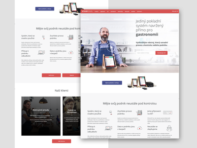 Storyous - main page website design product ui ux research gastronomy restaurant bistro cash register paas sell page home pos storyous