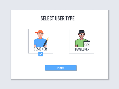 #064  Select User Type selected selector select selection user type select user type ui ux designer ui 100day ui  ux ux design ux  ui ui 100 ui  ux design dailyui daily 100 challenge design