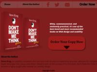 Don't make me think book website Landing page