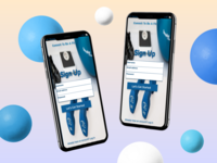 UI Sign Up Fitness App
