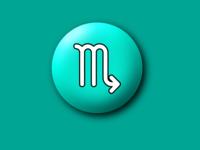 Scorpio symbol Sticker