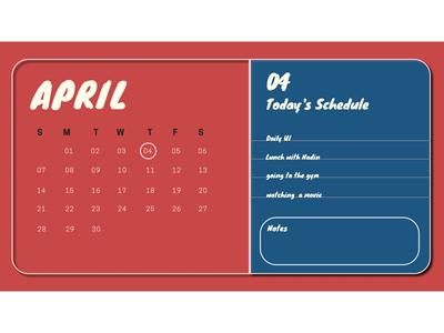 #038  Calendar