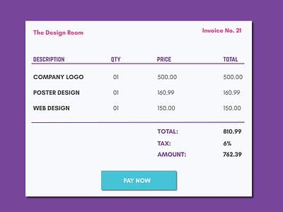 #046  Invoice interface invoice ui  ux ui ux design ui 100day ux  ui ux design ui 100 ui  ux design dailyui daily 100 challenge ux ui design