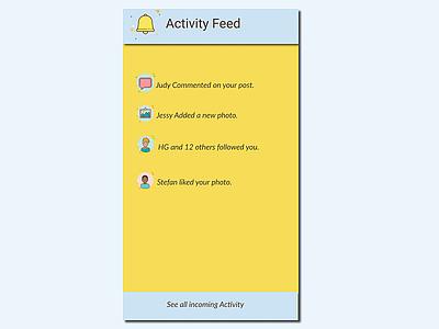 #047  Activity Feed activity feed uidesign ui  ux ux  ui ux design ui 100 ui  ux design dailyui daily 100 challenge ux ui design
