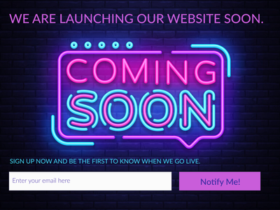 #048  Coming Soon ux ui design user interface web design webdesign coming soon page coming soon ui  ux ux  ui ux design ui 100 ui  ux design dailyui daily 100 challenge ux ui design