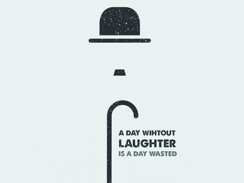 A Day Without Laughter charlie chaplin minimal quote
