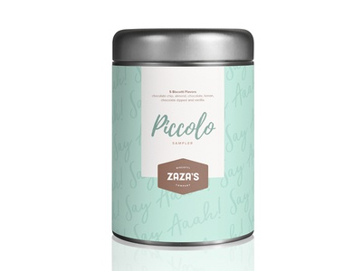 ZaZa's Identity & Packaging  biscotti logo identity packaging