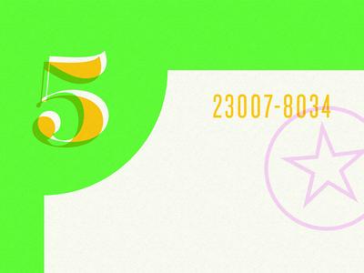 Five branding typography