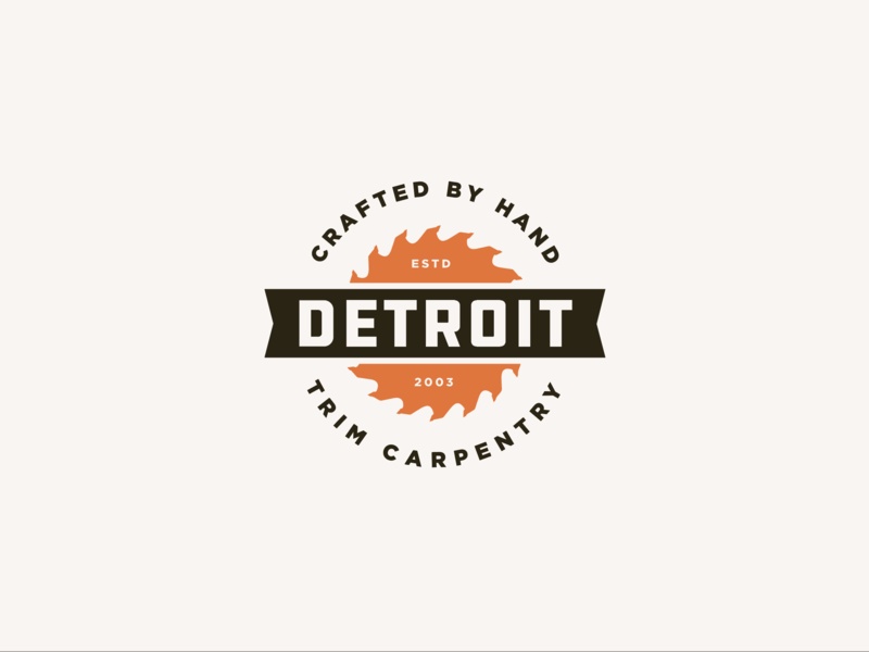 Detroit Trim identity logo branding