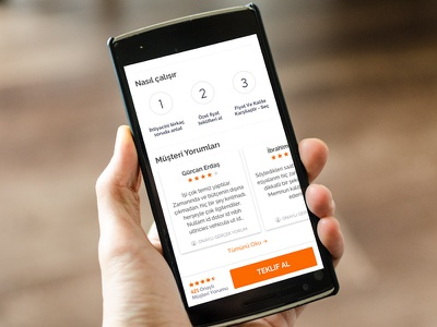 Mobile Category Screen reviews turkish orange user experiece clean service category cards armut ux ui