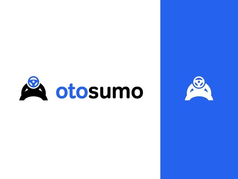 Otosumo Logo turkey sans serif blue marketplace car logo otosumo