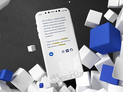 marcobaldessari.com/2019 minimalism minimal whitespace javascript personal branding personal website