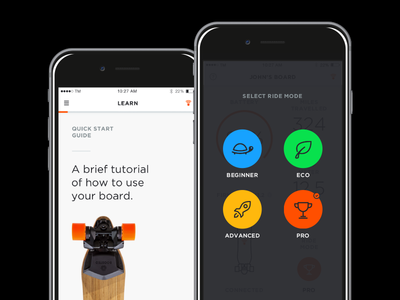 Boosted Boards iOS App skateboard electric app ios