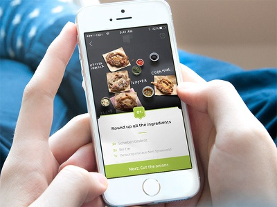 Recipe view recipe ios ios7 iphone ipad food cooking ux ui ios8