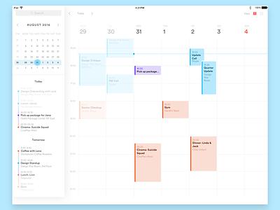 Calendar UI calendar ios ipad ux ui