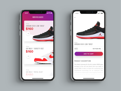Sneakers Shopping UI