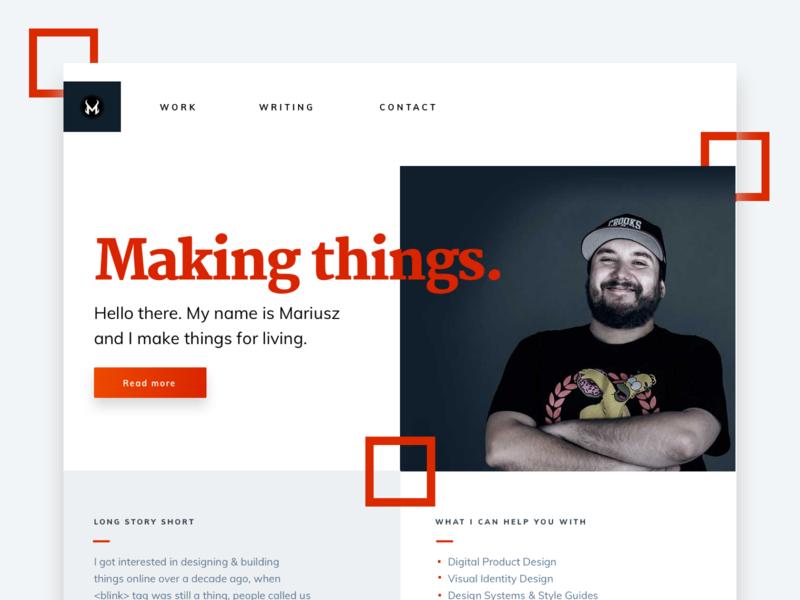 Personal website exploration web design portfolio personal branding landing page homepage design homepage website web
