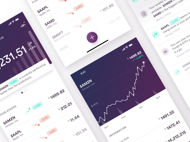 Stocks clean minimal simple app iphone xs iphone xr iphone x data design data visualization charts business management dashboard finance stocks