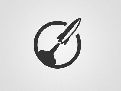 Whoooooosh! rocket icon logo