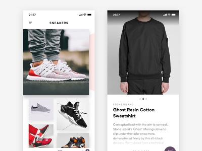 Fashion Discovery App explore discovery branding typography minimalist minimal iphone ecommerce details grid browse discover app ios ux ui fashon