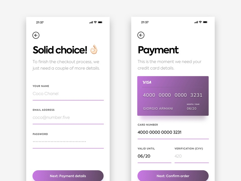 Payment details mobile app app form ui ux minimalist simple minimal iphone x iphone xs iphone ios ecommerce payment checkout
