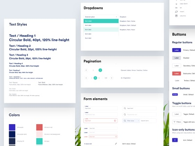 Lilt Design System brand identity guidelines app ux components pattern library simple cards minimal elements ui styleguide style tile style guide design systems design system