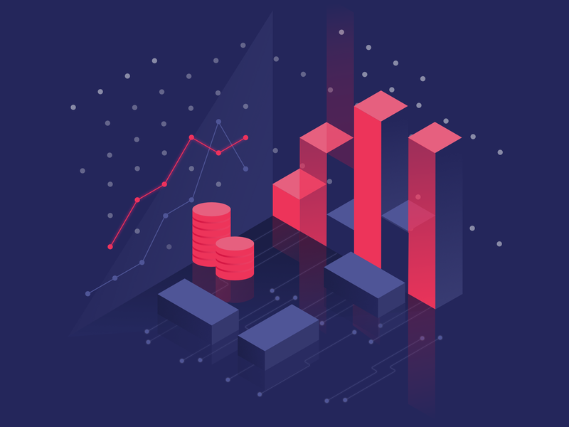 dgtmarket | isometric illustration chart isometric illustration isometric design isometric business future finance bitcoin services bitcoin crypto exchange crypto currency crypto affinitydesigner ui illustration graphic  design graphic design vector affinity designer