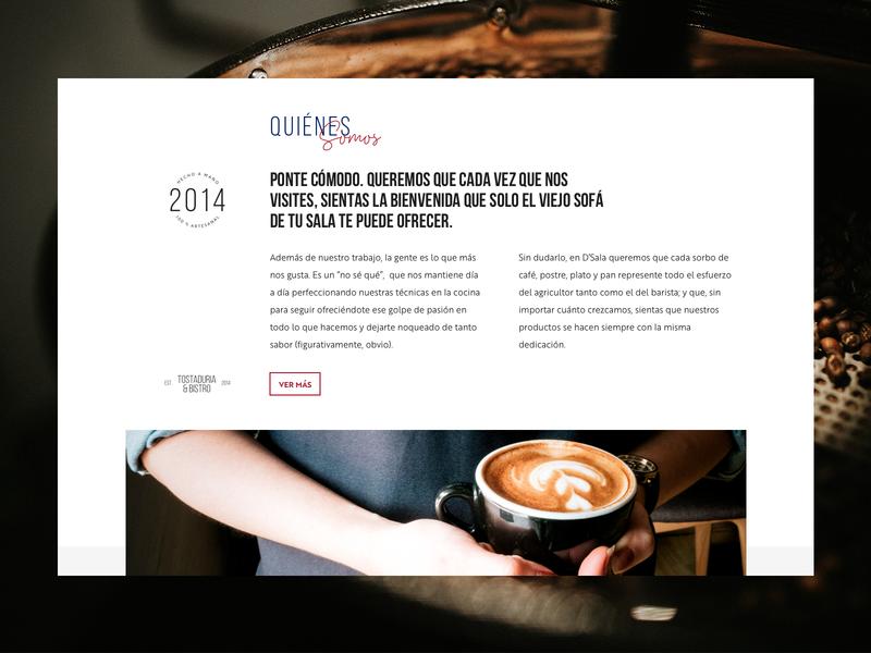 D'sala café white layout webdesign website graphic design ux web interface design ui