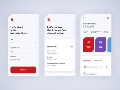 Concept Scotiabank concept white graphicdesign user interface minimal mobile ui ux web mobile app design mobile design brand interface ui
