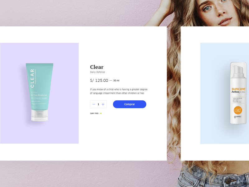 Beauty Products uidesign layout inspiration mobile user inteface design minimal white ux web interface ui