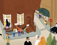 London - Assange's Corner