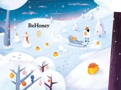 BeHoney Christmas packaging