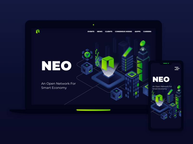 Neo Creative Design Competition - Website layout website neon crypto ui illustration blockchain
