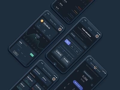 Celsius Network - Dark mode wallet lending celsius network dark mode mobile app crypto blockchain