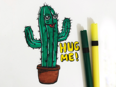 Day 1 #Cactus #100DaysOfSketching