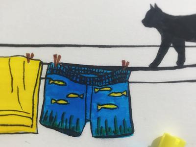 Day 2 #FishPants #100DaysOfSketching