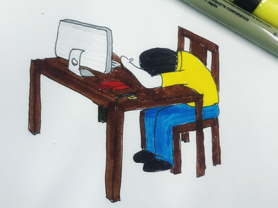 Day 3 #DeskJob #100DaysOfSketching