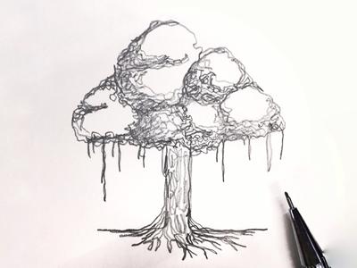 Day 7 #Tree #100DaysOfSketching