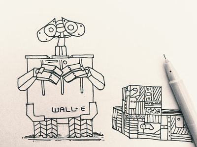Day 9 #FoodRobot #100DaysOfSketching