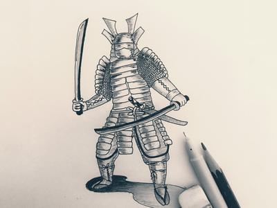 Day 10 #Samurai #Warrior #100DaysOfSketching