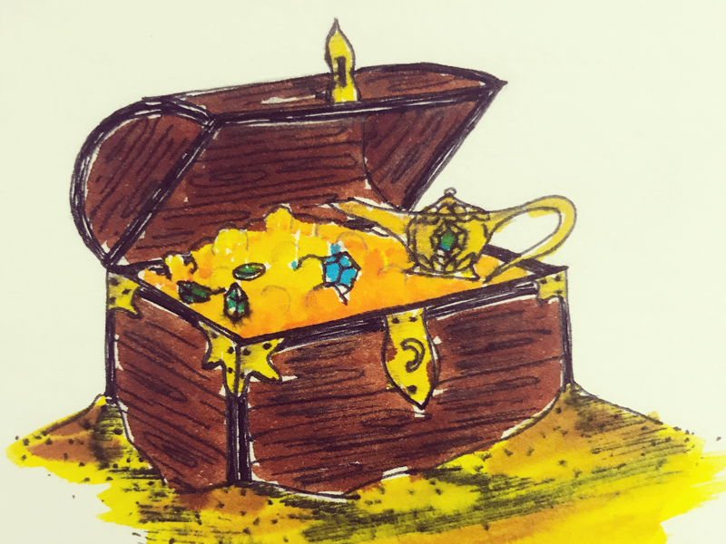 Day 12 #Treasure #100DaysOfSketching
