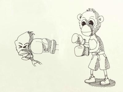 Day 13 #Monkey #Boxer #100DaysOfSketching