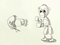 Day 13 #Monkey #Boxer #100DaysOfSketching