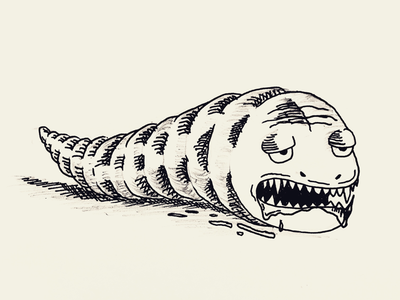 Day 19 #Monster #Slug #100DaysOfSketching