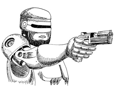 Day 22 #RoboCop of #100DaysOfSketching