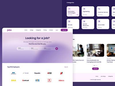Jobs Search Engine Website redesign job site job search job finder job listing design ui  ux ui redesign concept figmadesign figma clean ui redesign