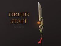 Druid Staff 3D