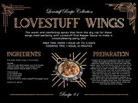 Lovestuff Wings Recipe Card