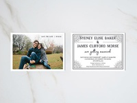 Save The Date - Baker/Morse Wedding
